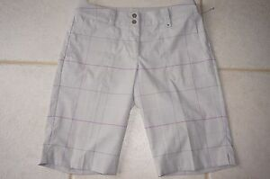 Nike Golf Womens Shorts Size 8 W33 L12.5 gray