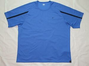 MENS blue SHIRT= NIKE = SIZE XXL = athletic fit dry = ME79