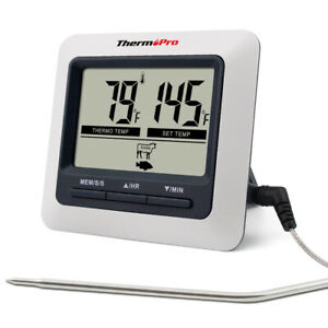 ThermoPro Digital Meat Cooking Thermometer Timer Alarm for BBQ Food Oven Grill