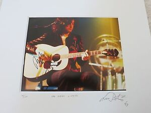 JIMMY PAGE SIGNED PHOTO BY LAURANCE RATNER COA + PROOF! ONE OF ONE LED ZEPPELIN