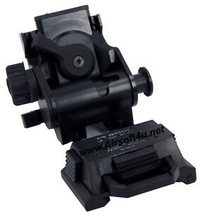 Tatical Airsoft FMA L4 G24 NVG Black Mount CNC for Fast OPS PJ MH BJ Mich Helmet