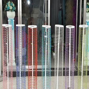 33FT 10m Crystal Bead Acrylic Garland Chandelier Hanging Wedding Supplie Curtain
