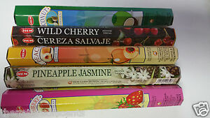 Hem Incense Stick Set 5 x 20 =100 Sticks Wicca Mixed Fruits Scents Free Shipping