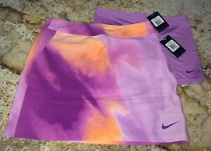NEW Womens Sz 8 NIKE GOLF Printed Woven Berry Violet Skirt Skort Matching Shorts