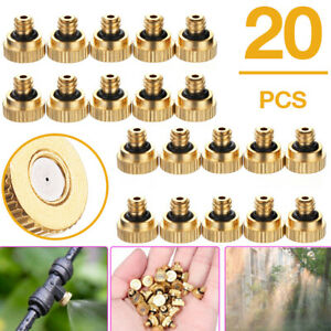 20PCS Brass Misting Nozzles Water Mister Sprinkle Garden Tool Kit Cooling System