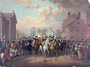 General George Washington In New York America Painting Real Canvas Art Print New