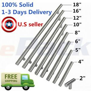 SOLID Stainless Steel T bar Kitchen Cabinet Door Handles Drawer Pulls Knobs pull