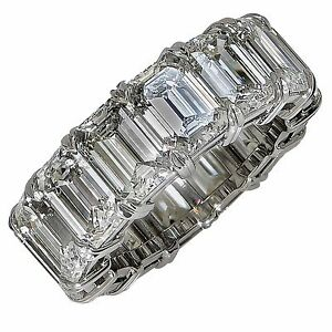 Platinum Gia Certified G-H IF - VVS2 Natural Diamond Eternity Band
