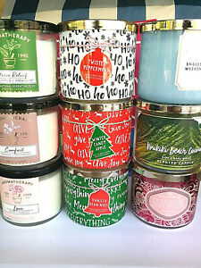 BATH AND BODY WORKS 3 WICK CANDLE 14.5 OZ YOU CHOOSE THE SCENT NEW $24.95