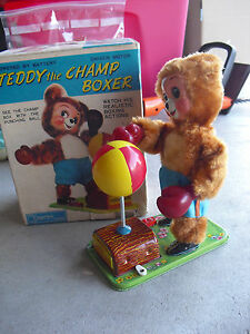 rare 1950s alps battery operated teddy the