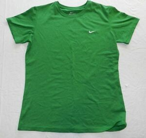 BOYS green athletic sport SHIRT = NIKE DRY FIT = SIZE LARGE = WH10
