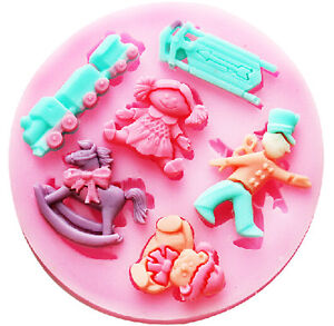 Baby Shower Sculpting Silicone Sugar Craft DIY Mould Gum Paste Cake Fondant Mold
