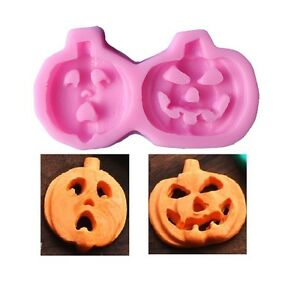 Halloween Pumpkin Silicone Sugar Craft DIY Candy Chocolate DIY Decorating Mold