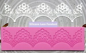 Lace Fondant Embossing Pad Silicone Sugar Craft DIY Mold Cake Decorating Moulds
