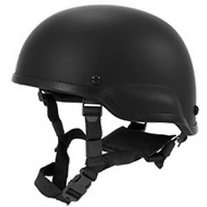 Lancer Tactical ACH MICH 2002 Replica Plastic Airsoft Protection Helmet Black