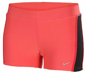 Nike Womens Dri Fit Tempo Tight Fit Pink Running Girls Shorts 640137-601 - M