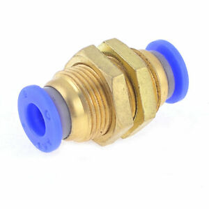 6mm to 6mm Push Fit Tube Bulkhead Connector Pneumatic Air Fittings $6.83