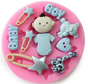 Baby Shower Decorating Silicone Sugar Craft DIY Mould Cupcake Cake Fondant Mold