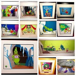 grinch stole christmas animation cel dr suess 12 piece 9 signed set rare edition