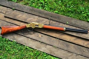 Winchester M1873 Engraved Lever Action Rifle - 1873 - Wild West - Denix Replica