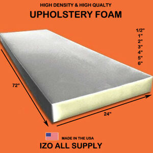 High Density Seat Foam Cushion Replacement Upholstery Foam Per Sheet 24