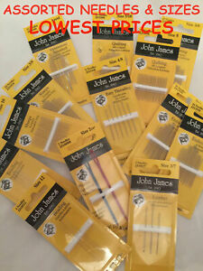 JOHN JAMES Hand Sewing Needles ALL STYLES SIZES SEWING CRAFT TAPESTRY BEADING GBP 2.15