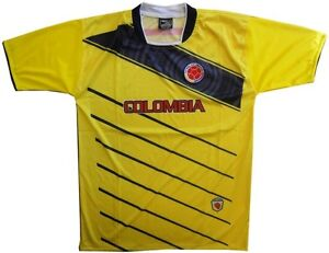 Team Colombia Men's Dri Fit Light Weight Soccer Shirt Yellow Large