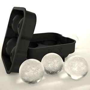 Round Ice cube Ball Maker Mold Bar Drink Silicone Sphere Shape Tray Free 2d Ship