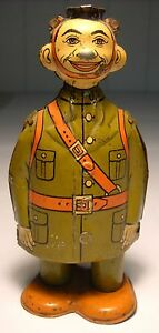 u s doughboy soldier tin wind up wwii tin toy