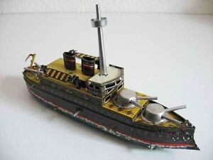 boat tank ship wind up toy copy of