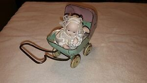 toy metal doll buggy carriage stroller mich doll