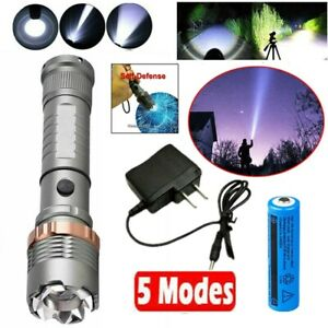 Rechargeable 990000LM Camping LED Flashlight Tactical Torch+Batt+Char US Stock
