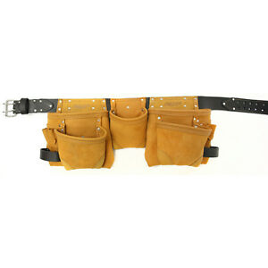 NEW Leather AWP 234-cu in Construction Tool-Belt Holster Pocket Pouch Bag Holder