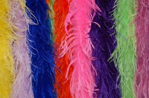 10 OSTRICH FEATHER BOAS 2 Ply MANY COLORS 72
