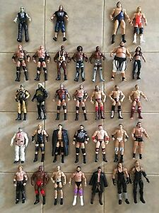 mattel wwe lot of 32 figures including rare