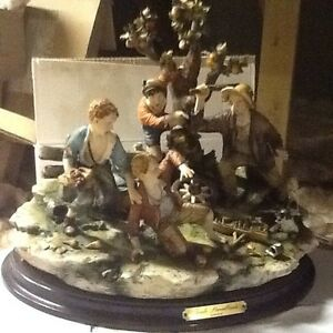 beautiful large tom sawyer capodimonte scene