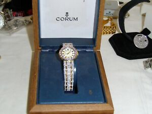 CORUM ADMIRAL CUP SWISS 18KT. & S.S. APROX. 5 CTS OF HIGH QUALITY DIAMONDS