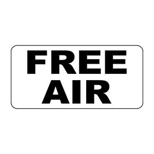 Free Air Black Retro Vintage Style Metal Sign - 8 In X 12 In With Holes