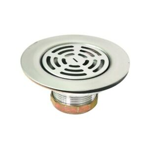 Flat Stainless Steel RV Mobile Shower Strainer - Drain Assembly for Kitchen sink