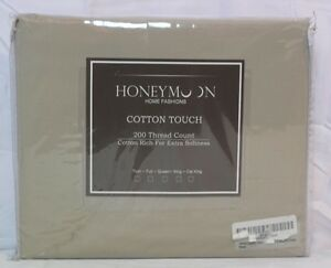 Honeymoon 3PC Microfiber Bed Sheet Set, Twin Size CEMENT