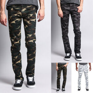 Victorious Mens Army Military Camouflage Skinny Fit Jeans Pants DL1029 AR169