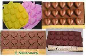 Silicone Molds strawberry heart pineapple flower wax melt ice cube chocolate
