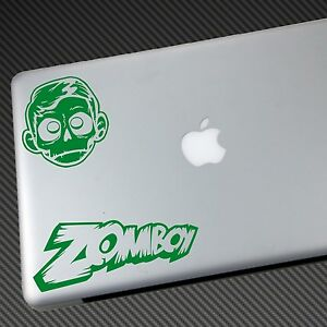 2x ZOMBOY VINYL STICKER CAR DECAL shirt merch skism kill the noise schoolboy cd