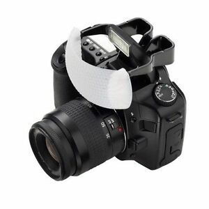 White Puffer Pop-Up Flash Diffuser For Camera DSLR Canon Nikon Pentax Olympus