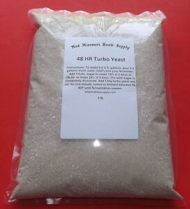 5 Pounds 48 Hour Turbo Yeast FREE SHIPPING!!! Moonshine, Whiskey, Distilling