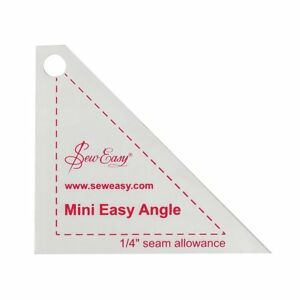 Sew Easy Mini Easy Angle Quilting Patchwork Template GBP 3.39