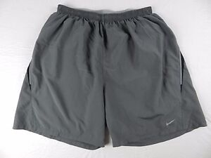 MENS gray athletic sport SHORTS = NIKE fit dry = SIZE Large = #R80