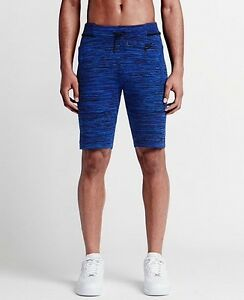 Men's Nike Tech Knit Shorts Blue Large 728675 439 New With Tags Retail $150