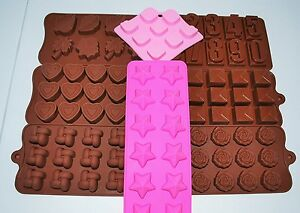 Silicone molds multicavities chocolate ice cube wax melts guest soap heart rose