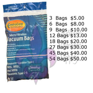 Sears Kenmore Canister Type C Vacuum Bags For 5055 50557 and 50558 Models $10.00